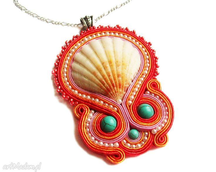 Coral reef naszyjnik soutache naszyjniki theresa ursulas jewelry