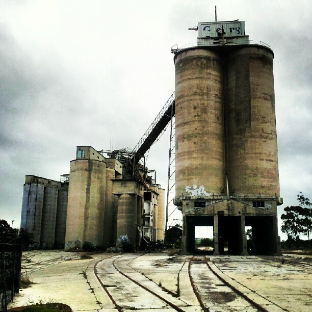 Abandoned cement works Geelong