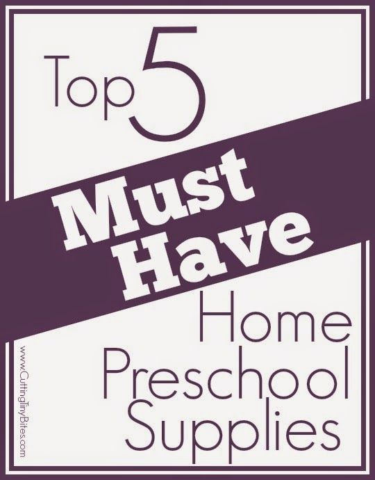 Not sure what you need for home preschool?  Check out this list of the BEST, most versatile and useful supplies.