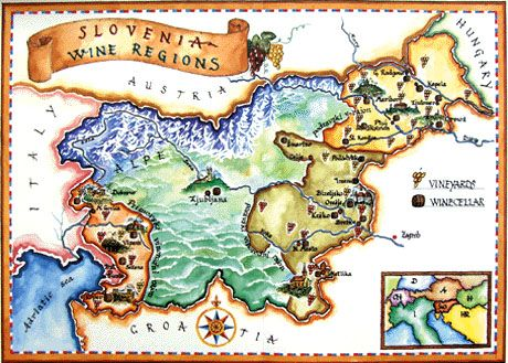 Map of Slovenian Wineries
