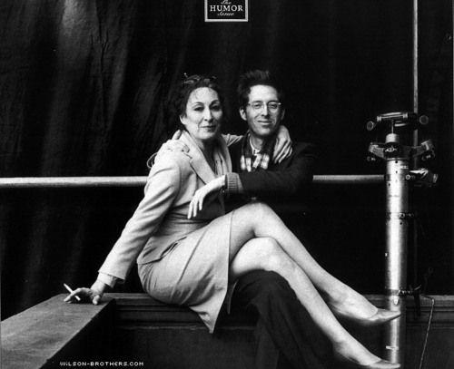 Anjelica Huston & Wes Anderson