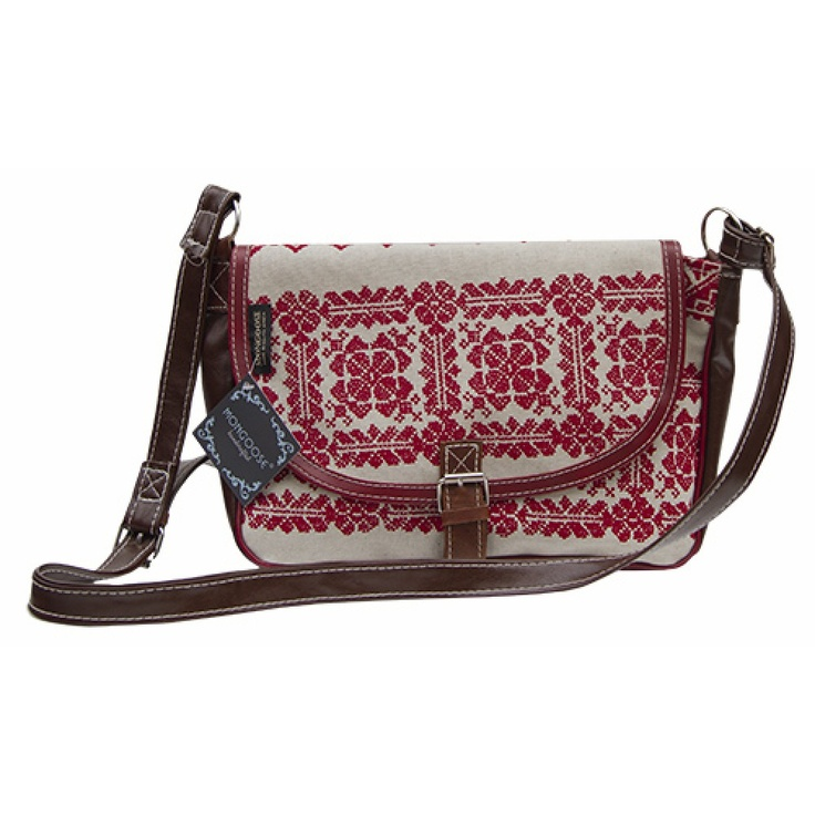 MONGOOSE ALICE BAG HANDSTITCH PRINT RED- hint hint!
