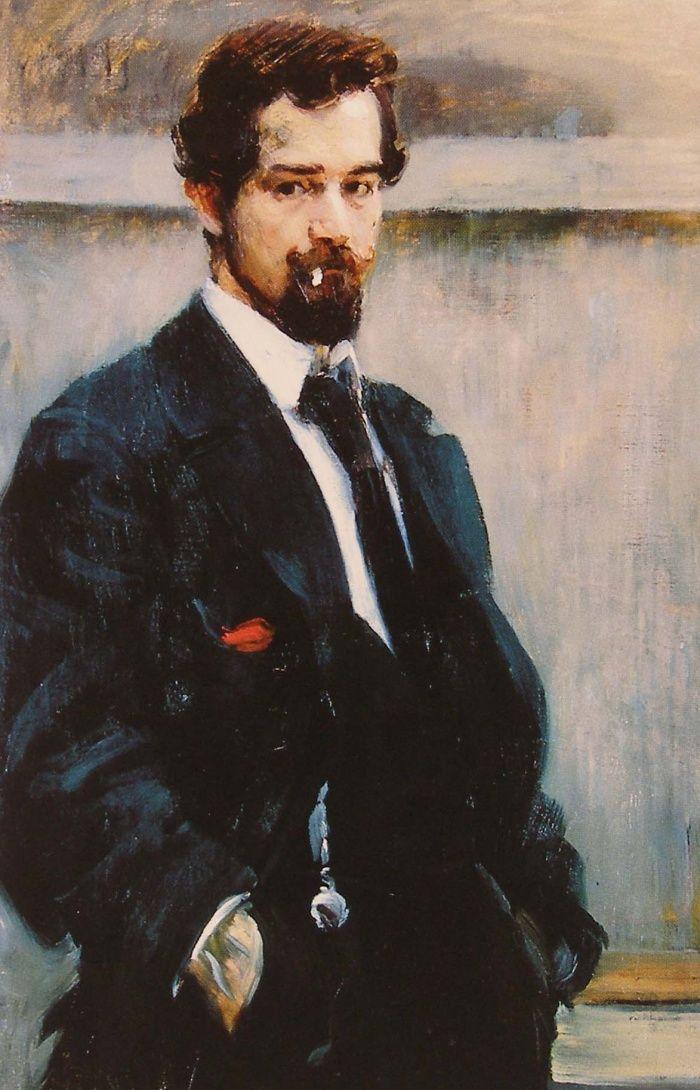 Jan Preisler (Czech, 1872-1918), Self-portrait, 1902-03. Oil on canvas, 69 x 39 cm. Národní galerie, Prague.