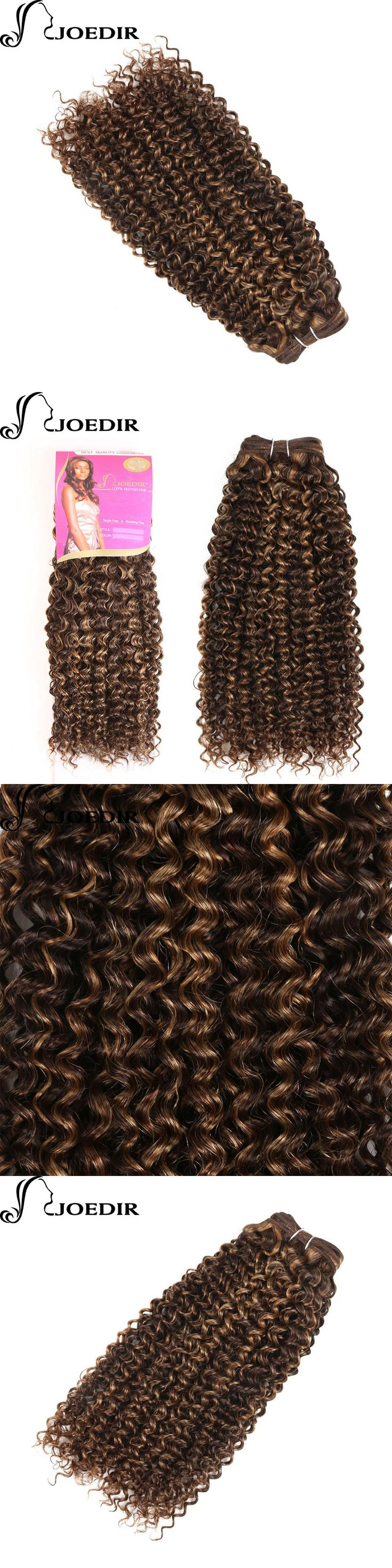 Joedir Pre-Colored Indian Curly Hair Weave Brown Blonde Human Hair Bundles P427 Afro Kinky Curly Hair Extensions 100g P427