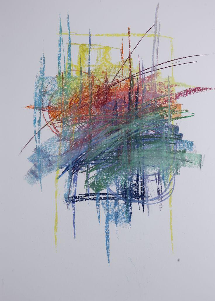 Michael Třeštík, 400 colors on 10 sheets, series II, No. 5, 2016, pastel A1