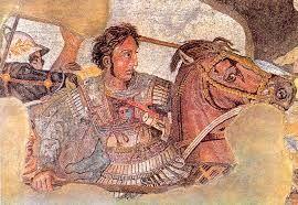 A portrait of Alexander the Great fighting Persian king Darius III