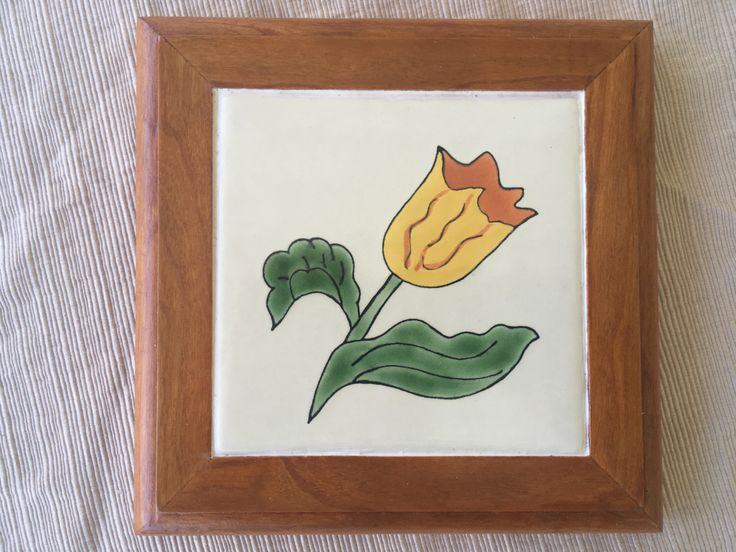 Framed Hand Painted Mexican Tile by Popsnsons on Etsy https://www.etsy.com/listing/481534127/framed-hand-painted-mexican-tile