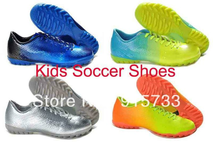 2014 kids soccer shoes Neymar Ronaldo Messi  Children football boots cleats leather indoor futsal  shoes EUR 31-35 US $36.84