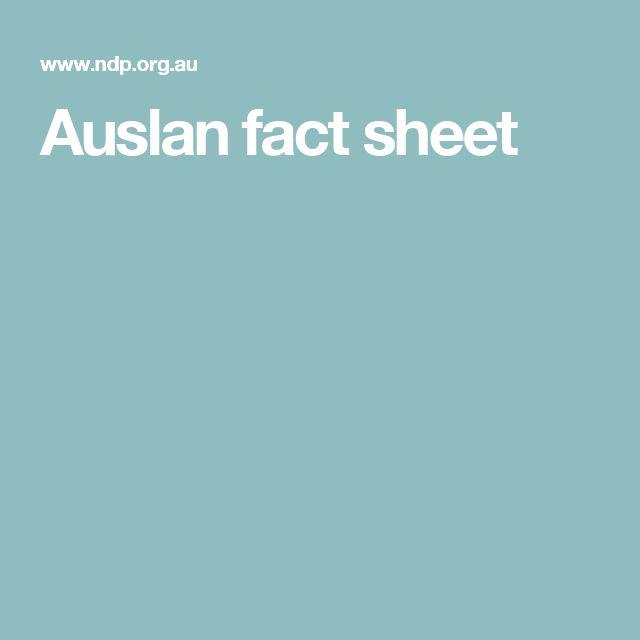 Auslan fact sheet