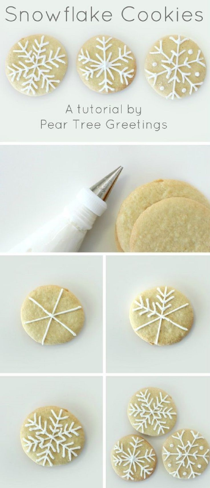How To Make Snowflake Christmas Cookies