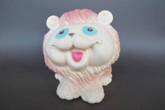 Soviet Rubber Lion Vintage Russian Rubber Lion Toy by SkySecrets