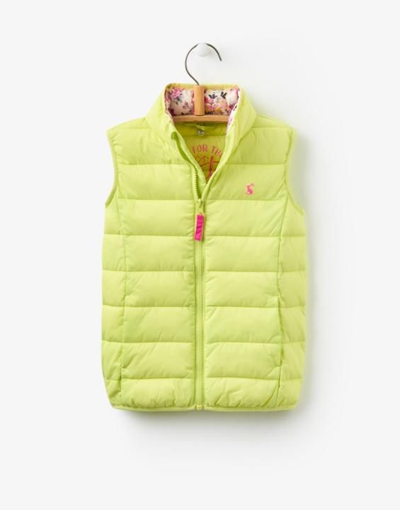 Croft Lime Gilet , Size 3yr | Joules UK