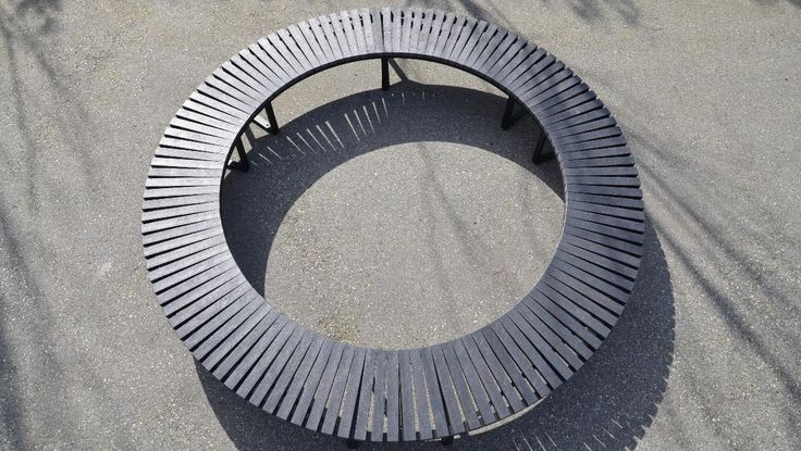 Wishbone Skyline Circle Bench 3 Sections #circle #sitefurniture #curved #bench