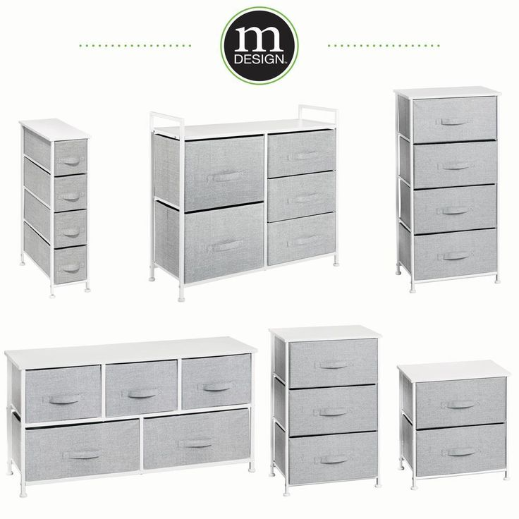 Polar Aurora Wide Drawer Dresser Storage Closet with 5 Removable Fabric Drawers