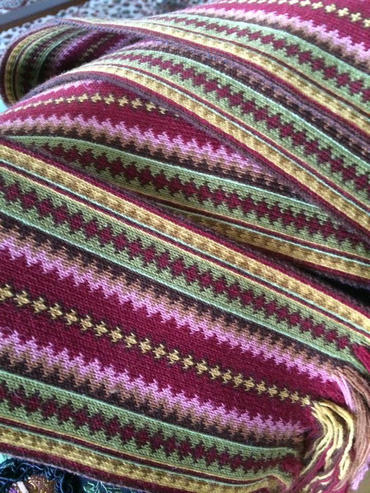 brikkevevd belte ( card woven belt )