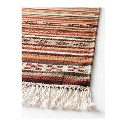 "Love the colors.  Maks might chew the fringe.  :(   KATTRUP Rug, flatwoven - 5 ' 7 ""x7 ' 10 "" - IKEA"