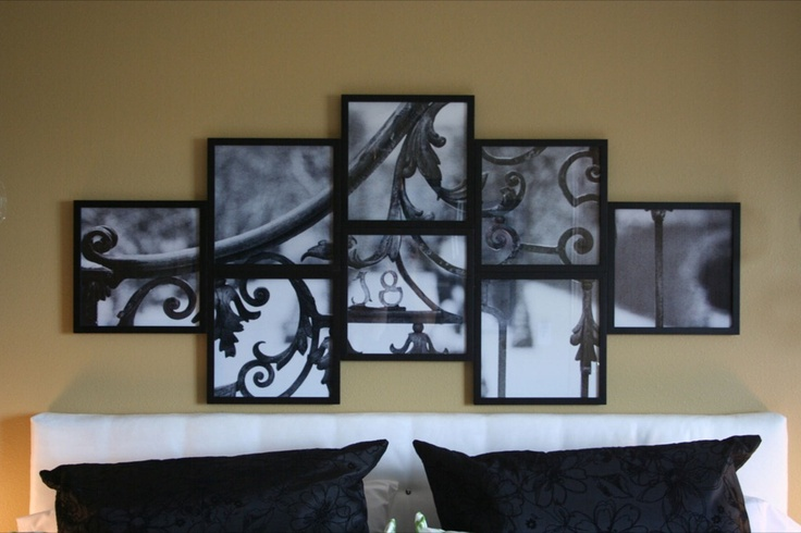 Great idea to make your own large wall decor!!