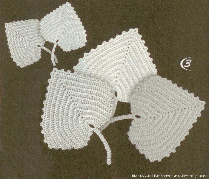 A little leaf for the Irish crochet lace and accessories. Part 1.
