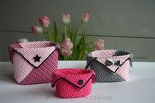 Crochet Pattern - Basket. Crochet Organizer containers. Pink organizer for all. Crochet Pattern Box