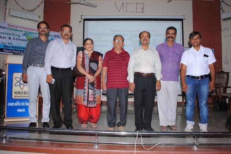 Distinguish Guest on Dias @ Teachers Workshop on NCSC 2015 by KRCSC Bhavnagar