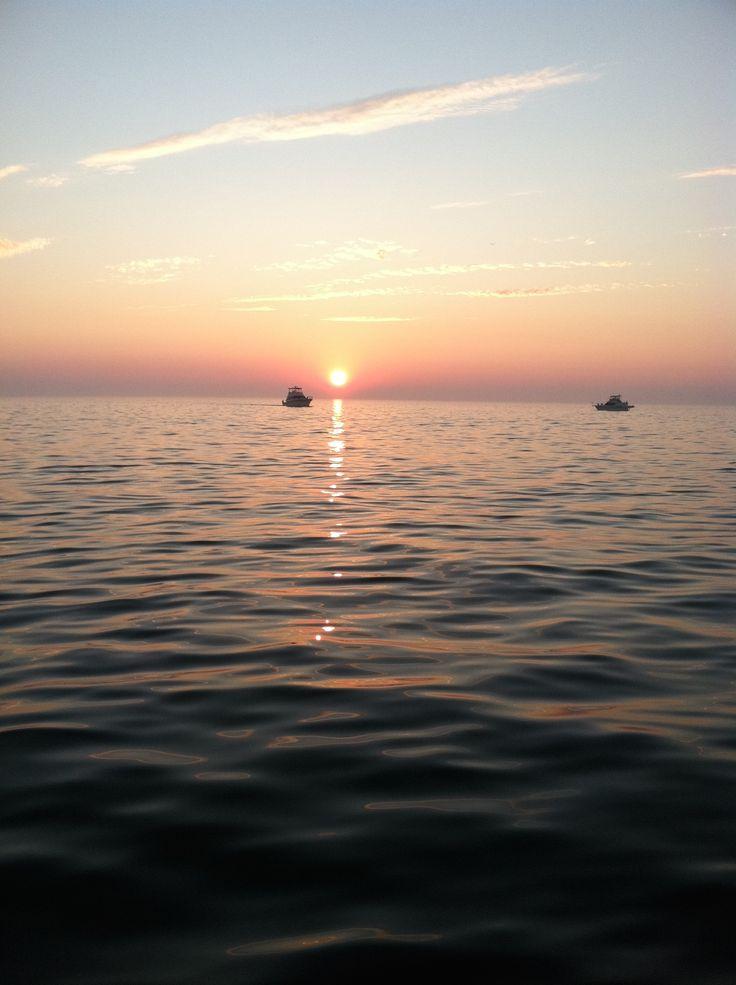 Lake Michigan Sunset - Off Holland MI.
