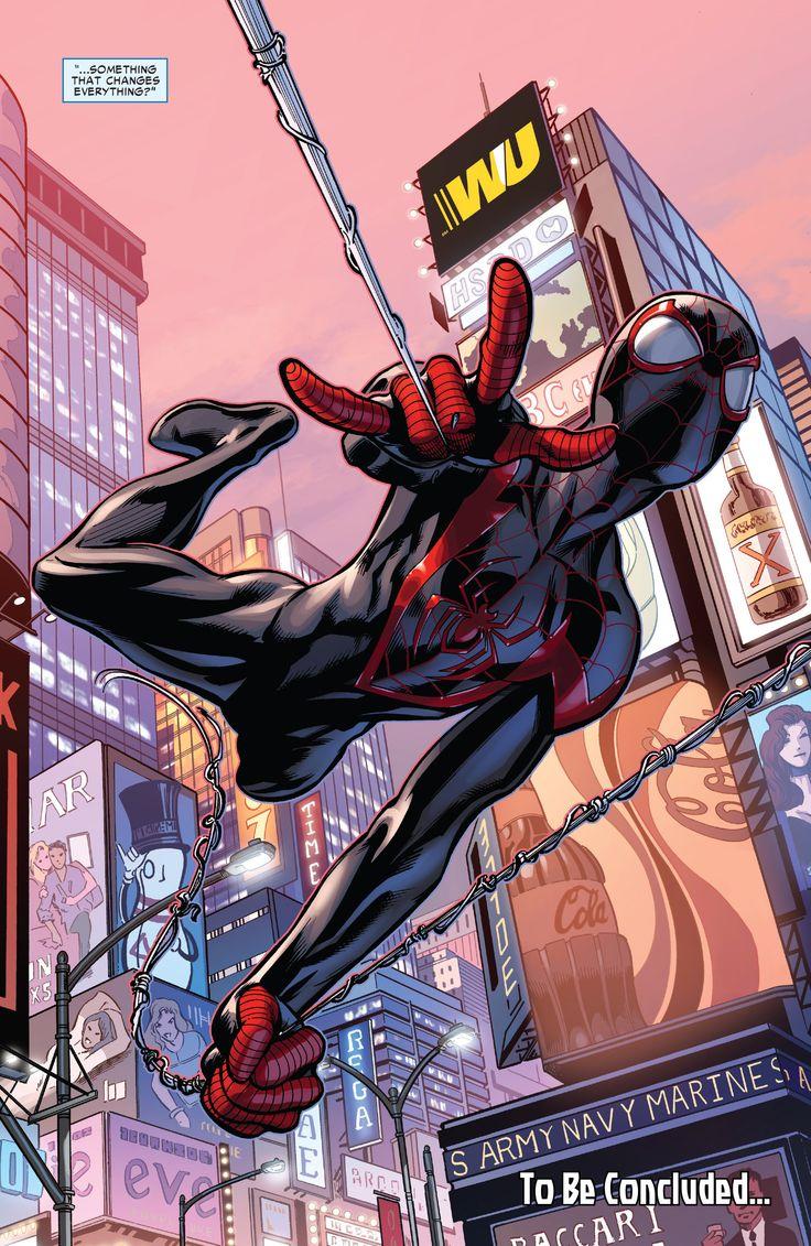 """Spider-Man/Miles Morales (Secret Wars: Ultimate End Spoilers """"Sigil-Crossgen"""" #4 Cover by: Mark Bagley)"""