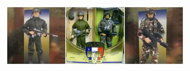 Wonderful way to collect and display our gratitude to servicemen from #thenandnow. Two Action Figures by GI Joe over  35 Years. Represents soldiers from 1964 & 1999 Land Warrior NRFB Then Now LE #Hasbro