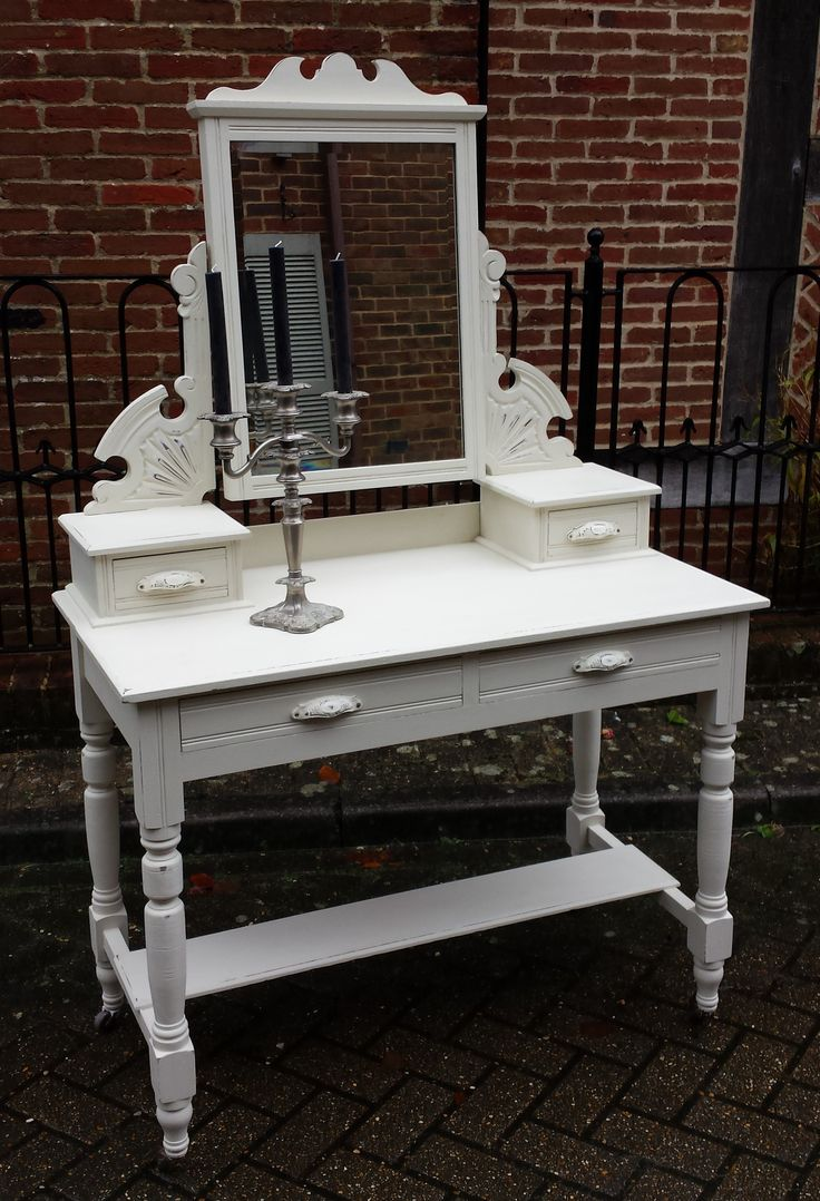 Beautiful Edwardian Dressing Table. Hand painted in Vintage from the Everlong Superior Finish Paint range.