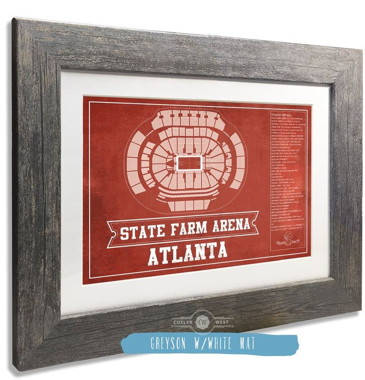 Atlanta Hawks State Farm Arena Vintage Basketball Blueprint Etsy In 2020 Atlanta Hawks Inkjet Printing Blueprints