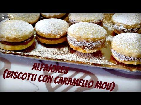 Alfajores -Biscotti con Caramello Mou - YouTube