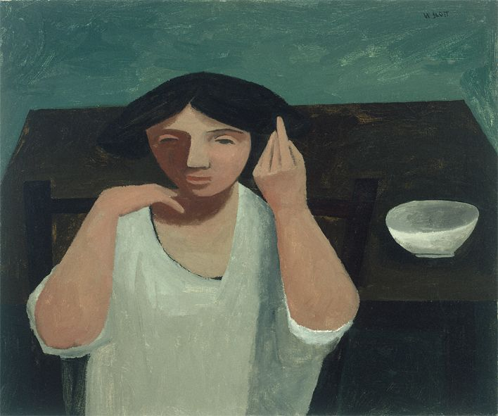 William Scott, [Girl Touching Her Hair], 1946, Oil on canvas, 51 × 61 cm / 20 × 24 in, Private collection