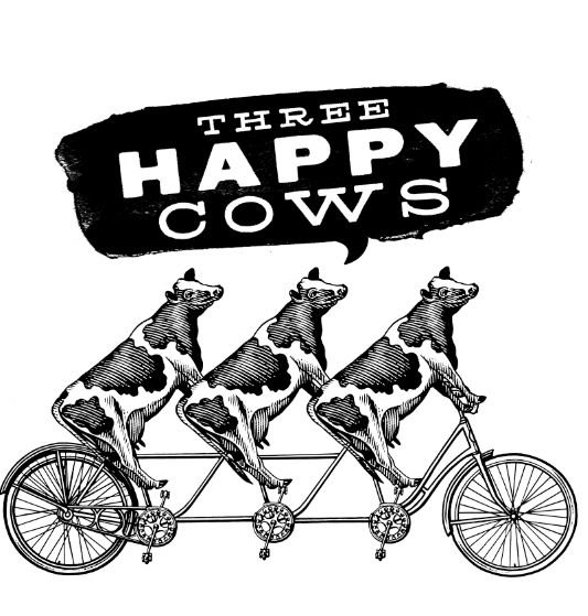2. Branding sample   Three Happy Cows Illustrations created by Steven Noble on Behance for letterhead samples