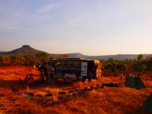 Interview with Overlanding West Africa - Overlanding allows you to experience stunning bush camps such as this one in Guinea Bissau...