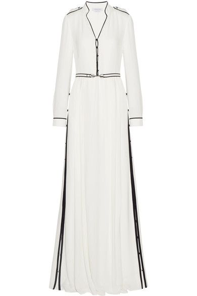 Gabriela Hearst - Russell Belted Georgette Gown - Ivory - IT