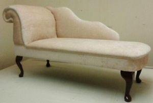 Traditional Chaise Longue in Champagne Velvet designer fabric   eBay