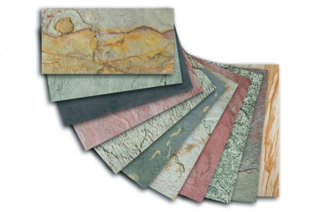 Flexible Stone Veneer : Laminate that looks like stone spa launches wafer thin