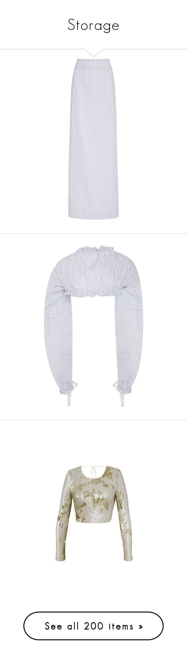 """""""Storage"""" by amberelb ❤ liked on Polyvore featuring skirts, stripe, striped cotton skirt, striped maxi skirt, high waisted skirts, maxi length skirts, cotton skirts, tops, crop top and shirts"""