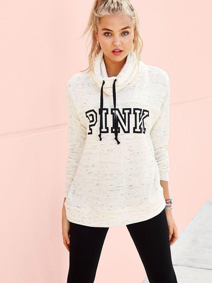 cowlneck pullover  pink  victoria's secret  victoria