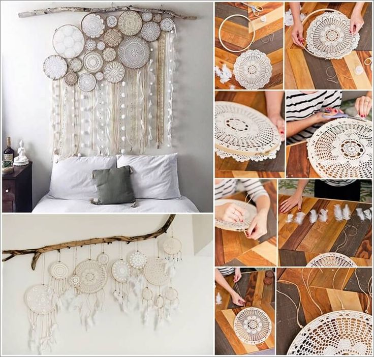collage via: dreamcatchercollective  , monkeyforestroad If you want to try a DIY project for your bedroom then nothing is more suitable than making a beauteous dream catcher. It looks really whimsical