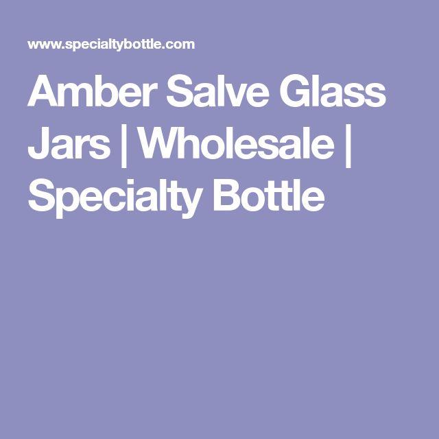 Amber Salve Glass Jars | Wholesale | Specialty Bottle