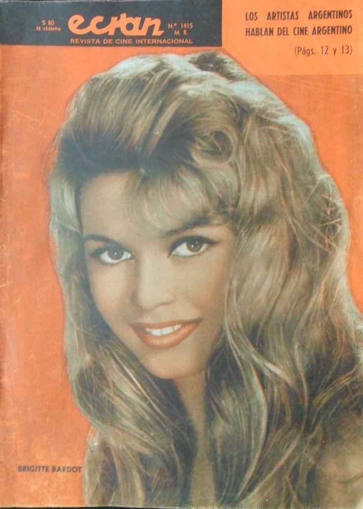 Portada de la revista Ecran con Brigitte Bardot