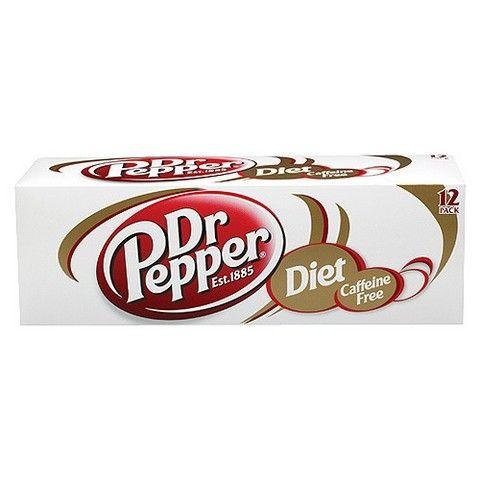 Dr. Pepper Diet Caffeine Free Soda 12 oz, 12 pk