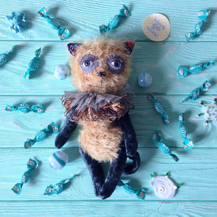 A personal favorite from my Etsy shop https://www.etsy.com/listing/239496180/teddy-bears-cats-cat-toy-kitten-toy