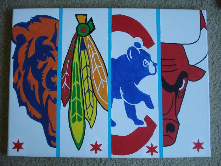 Chicago Sports Team Logos by Bubblybuzzcreations on Etsy