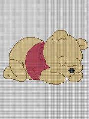 free crochet winnie the pooh pattern | CROCHET PATTERN BABY WINNIE THE POOH AFGHAN GRAPH E-MAILED.PDF For ...