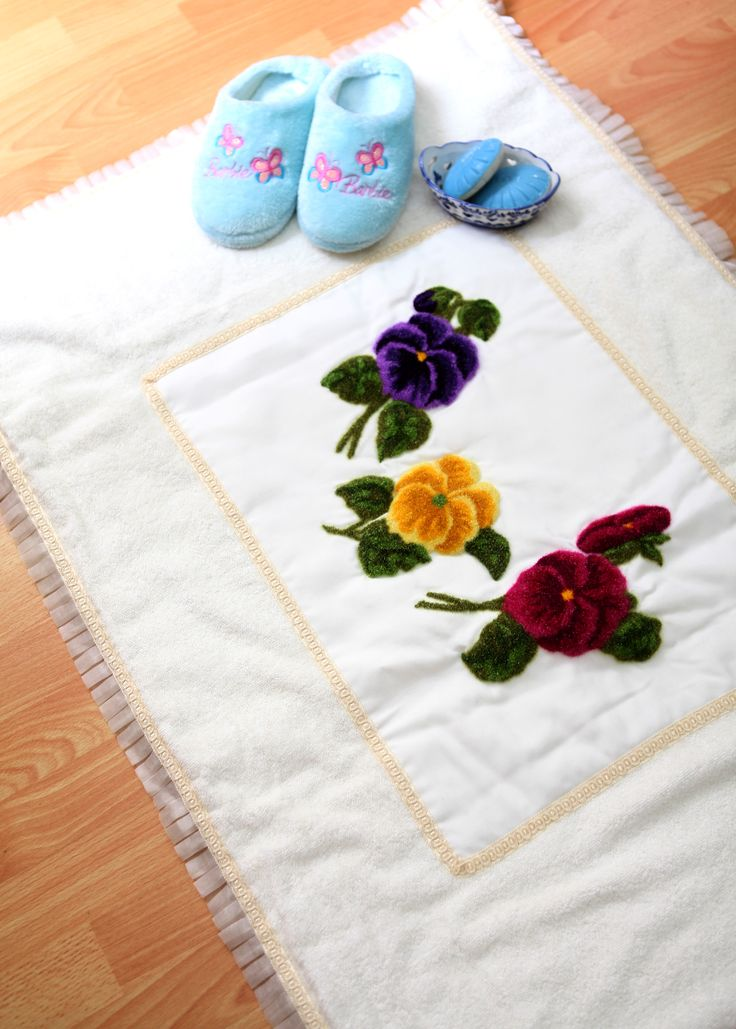 banyo paspası / bath mat / klozet takımı / bowl set / punch / embriodery