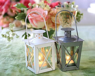 Mini Lanterns.  Can be used as table decorations and double as a bonbonniere at the end of the night.