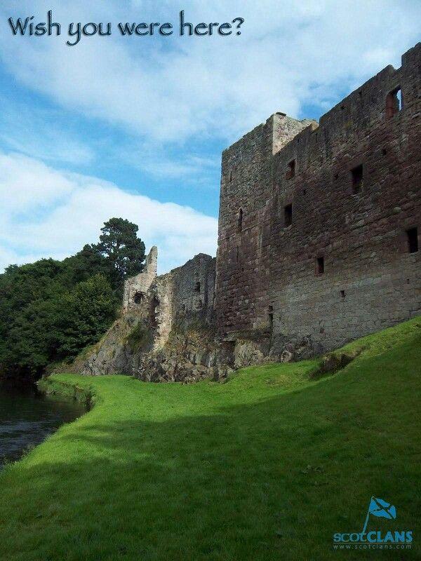 Hailes Castle, found just outside Haddington in East Lothian