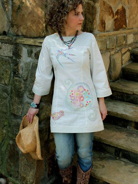 This is aPAPERpattern; click here for the digital (PDF downloadable) version of this design. The Willow Tunic is a terrific silhouette for all seasons! This easy to sew design features self lined yo