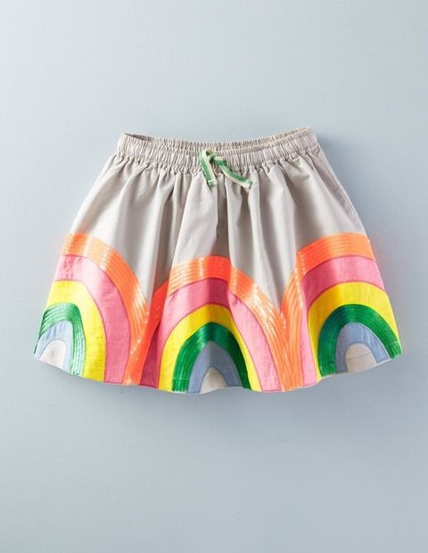 Rainbow Skirt 32700 Applique Skirts at Boden